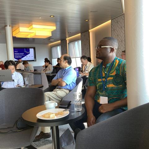 Prince was having fun on a ferry at OIE2019. He reunited with the large group in Paris.
