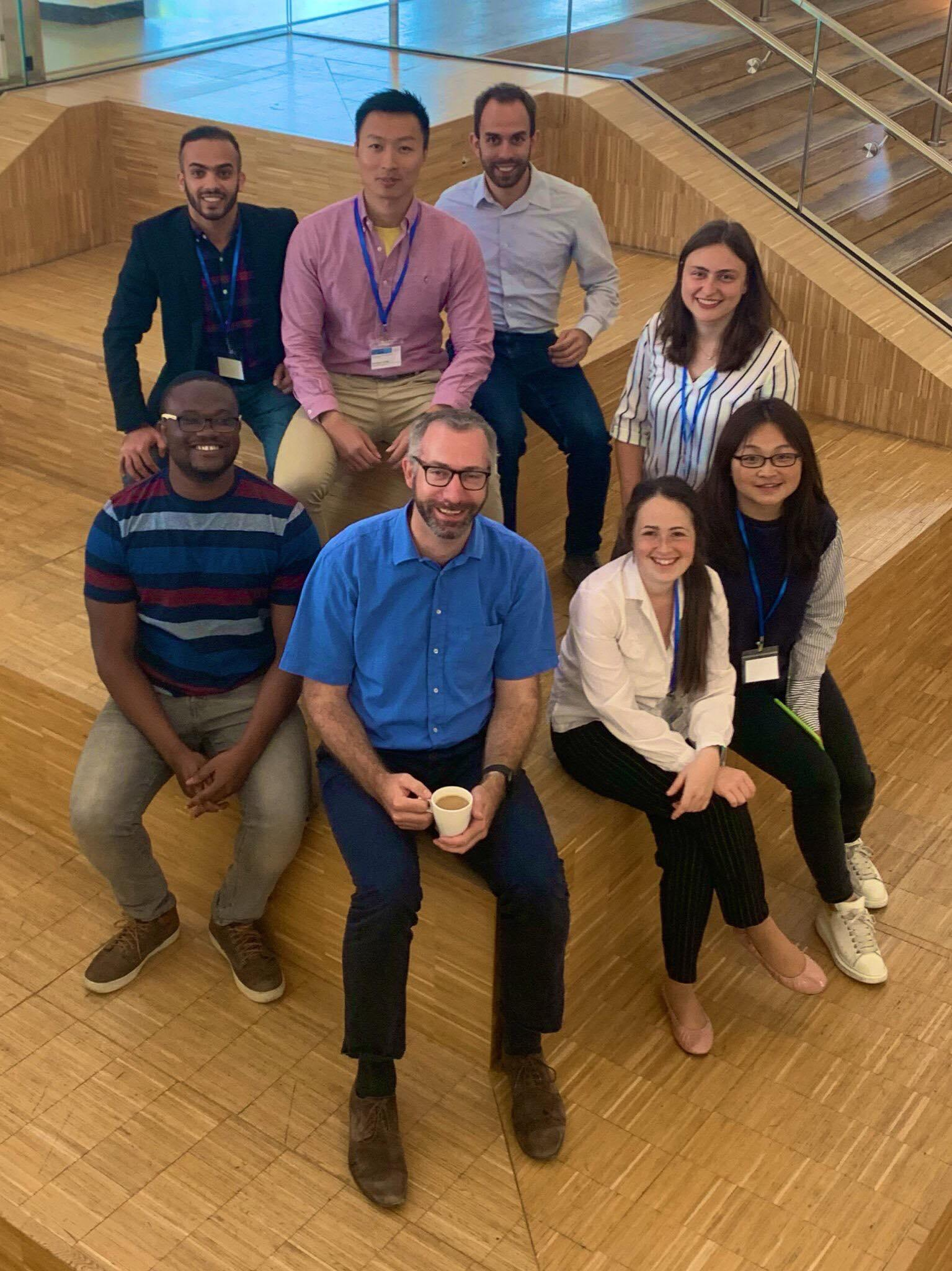 The latest version of the TAG photo taken at PSSRC2019. Mohammed, Ray, Adam, Johanna, Prince, Axel, Talia, and Qi.